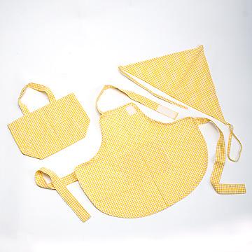 エプロンセット黄