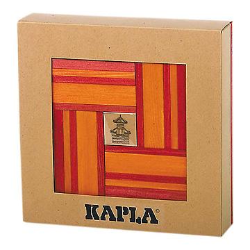 KAPLA®ブック付きカラー赤セット