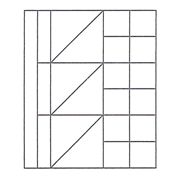 M積木(小)/ ムンツ積み木(小)A11-6 色 2305