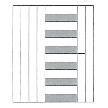 M積木(小)/ ムンツ積み木(小)A11-7 白木 1105