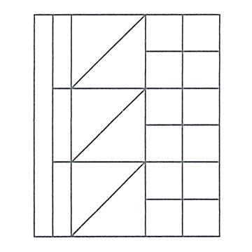 M積木(小)/ ムンツ積み木(小)A11-7 白木 1305