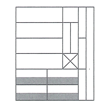 M積木(小)/ ムンツ積み木(小)A11-7 白木 1405