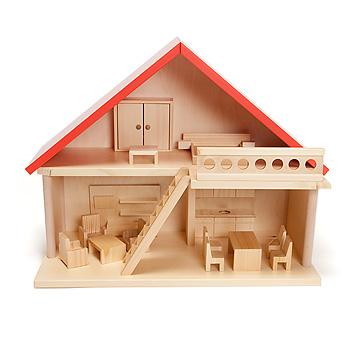 バウアー社の人形の家家具付人形の家