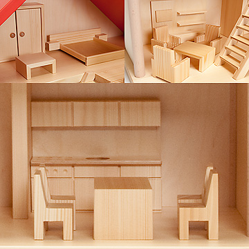 バウアー社の人形の家家具14点セット