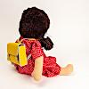 人形用ランドセル:ジルケ人形(大)に背負わせたイメージ(人形は別売)