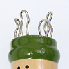 緑帽リリアン編み: