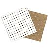 ひも通しホワイトボード 10枚セット:表は白い化粧面、裏は木質ボードの地肌