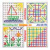 ひも通しホワイトボード 10枚セット:パターン表に掲載されているのは、この4つ