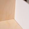 N流し台+オーブン:棚板と背板の間にすき間があくことがあります。