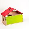 庭付き人形の家:緑のボードは前面に差し込めます。