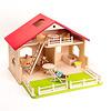 庭付き人形の家:ボードヘニッヒ(ニック社)の家具、ヘアビック社の人形との組み合わせ(別売です)