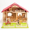 庭付き人形の家:ドライブレッター社の家具、リュルケ社の外遊具、AK社の人形との組み合わせ(別売です)