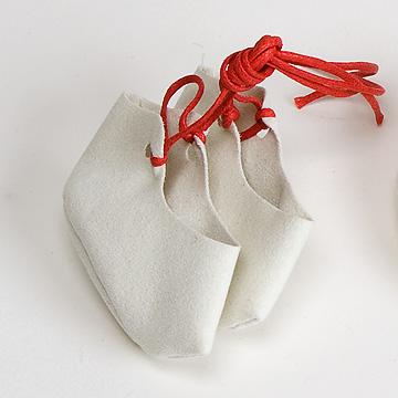 ジルケ人形用ひも靴(小)赤