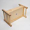 人形用ベッド(小)白木(40cm):