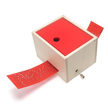 ミュージックボックス(大)赤