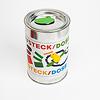 ケルナー缶 max + bruno:フタのカエルは金属製のプレートで、マジックテープでフタに固定されています。