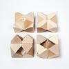タワ 白木:4個をひと固まりにして16個を並べる