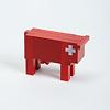 スイスの赤い牛: