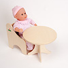N人形用テーブル(白木):ピーターキンベビーと