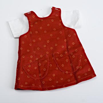 ジルケ人形(大)着替え 各種ジルケ人形(大)着替え 赤ジャンパースカート