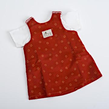 ジルケ人形(小)着替え 各種ジルケ人形(小)着替え 赤ジャンパースカート