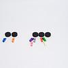 黒ねこゲーム:各プレーヤーはベーコンだと思うところに自分のねずみを置きます。