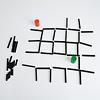 スティックス:ゲーム2(アル・カポネ)の例:3マス先まで進み、途中で飛び越えたスティックをもらいます。