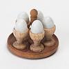 ゆで卵と卵立てセット: