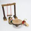 切り株長椅子:AKの子どもたちにぴったり