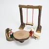 切り株椅子:AKの子どもたちにぴったり