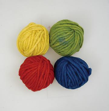 毛糸4色セット基本色