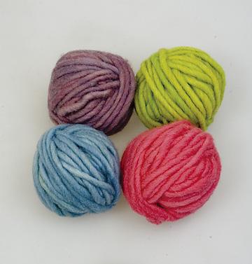 毛糸4色セットパステル色