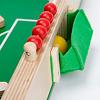 木製キックサッカー:ボールがはまり込まないように、ゴールは浅めになっています。