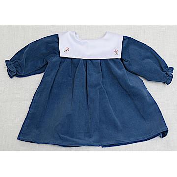 C体用ワンピースbセーラー衿(厚手)C体用ワンピースbセーラー衿(厚手)青系
