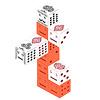 Rocca Classics(ロッカ・クラシック):「カードタワー」の遊び方:カードを重ねられるのは、各列の一番上のカードだけ。下になったカード(赤く塗った部分)には重ねられません。
