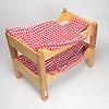 ブッツェベッド ふとん付き(50cm):2段ベッドにした状態