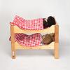 ブッツェベッド ふとん付き(50cm):寝ているのはジルケ人形L(別売)