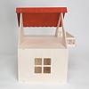 RKドールハウス バルコニー付(白木):屋根は簡単に外せます。屋根を外すと2階の遊びやすさはぐんとアップ。