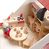 RKドールハウス バルコニー付(白木):2階は壁がありませんが、家具などを使えば、部屋を分けられます。