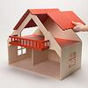 13193 バルコニー付きの家 赤(床赤):屋根は簡単に外せます。