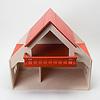 13193 バルコニー付きの家 赤(床赤):1階は奥行が深めです。
