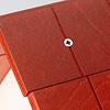 13193 バルコニー付きの家 赤(床赤):板は合板、ビス止めです。